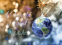World on a String Holiday Greeting Cards