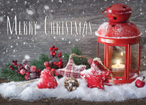 Warm Country Greetings Christmas Greeting Cards